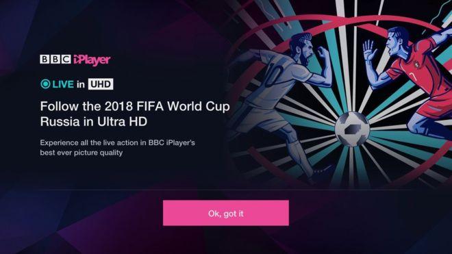 BBC iPlayer World Cup 2018