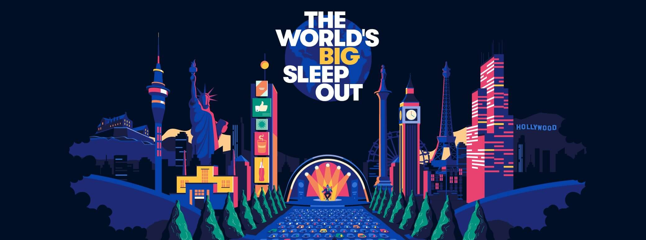 The worlds biggest sleepout