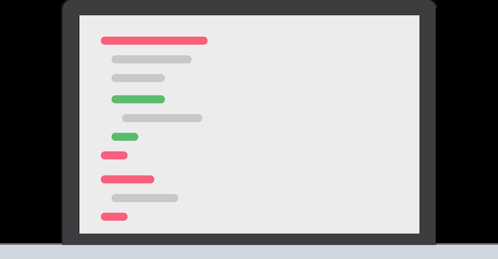 code on a screen