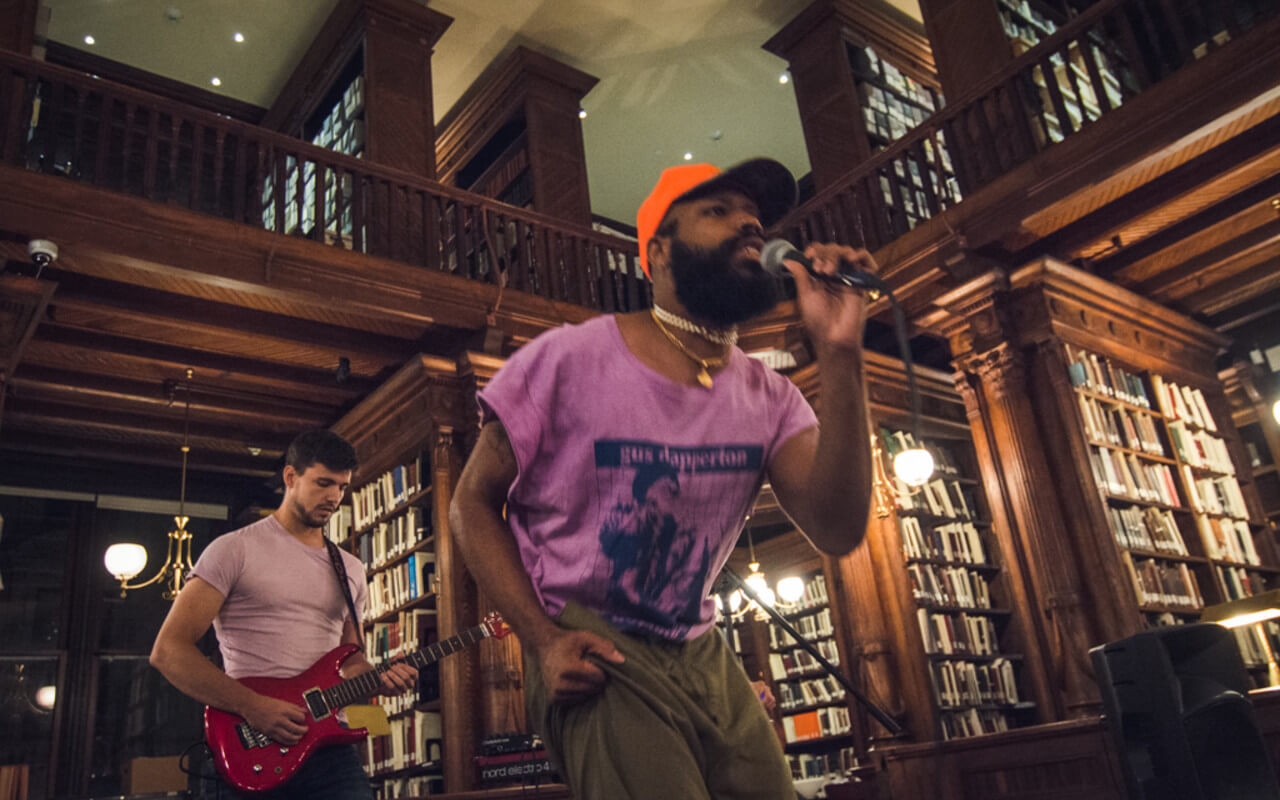 Cha'ves Jamall performing at Sofar NYC at Brooklyn Historical Society