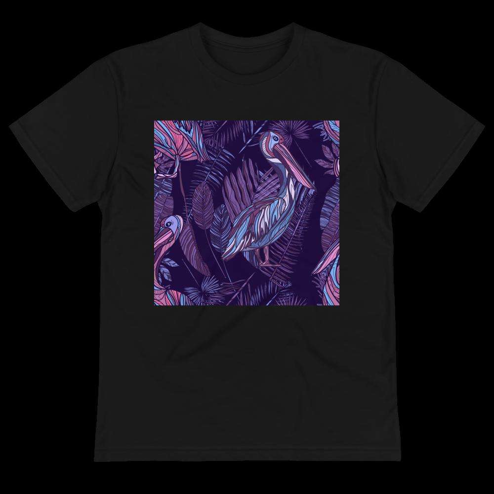 Purple Pelican Pattern Eco Tee