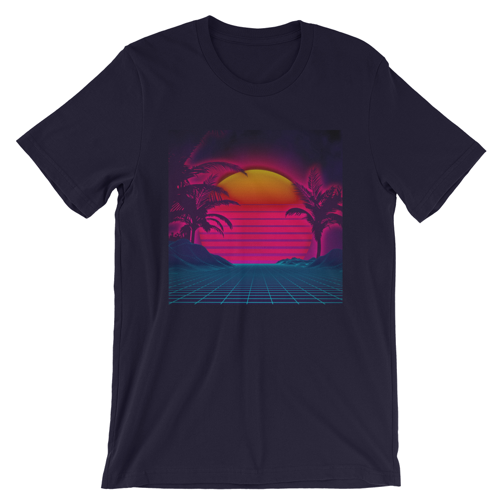 Neon Plam Sunset Eco T-Shirt