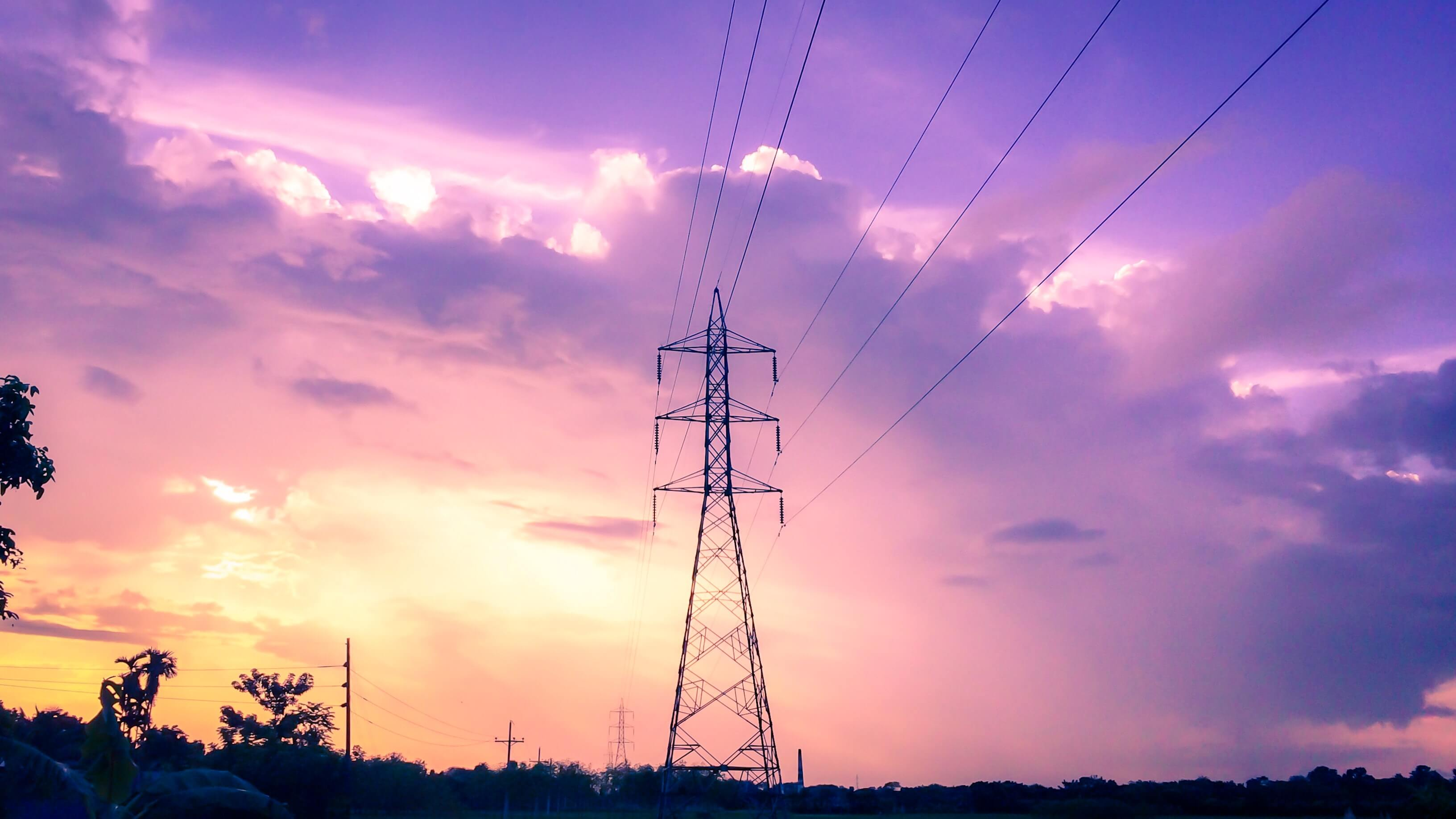 photography-of-electric-tower-during-sunset