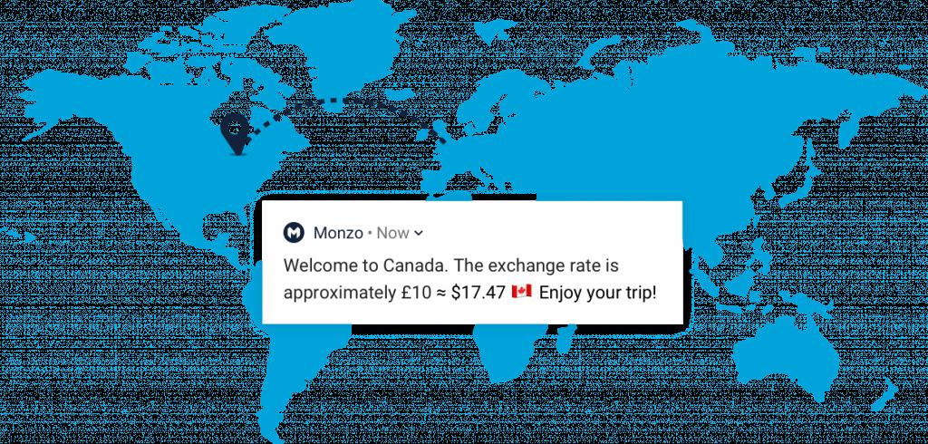 Monzo travel