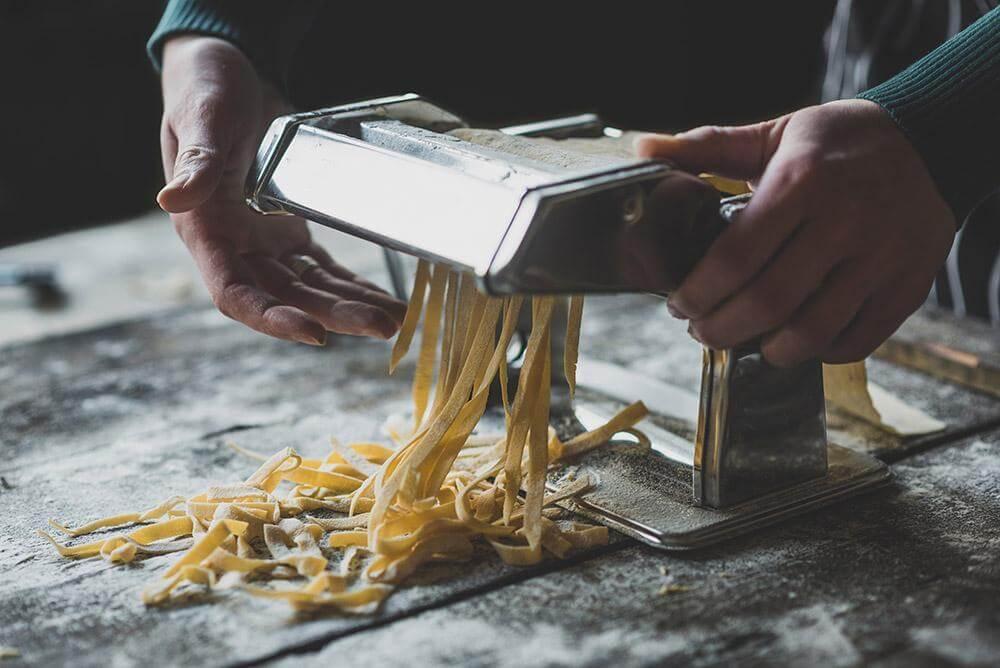 Italian traditional tagliatelle